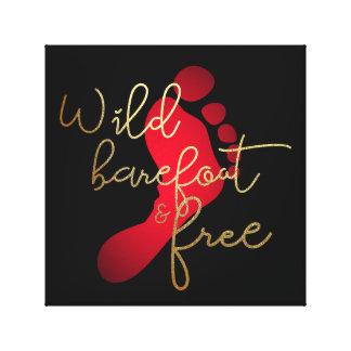 Toile Aux pieds nus et libre sauvages