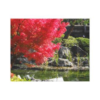 Toile avec le paysage d'automne à Nagoya, Jaoan