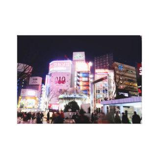 Toile avec Nightview au Japon, Shinjuku