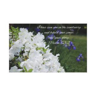 Toile Azalée de blanc de 63:2 de psaume