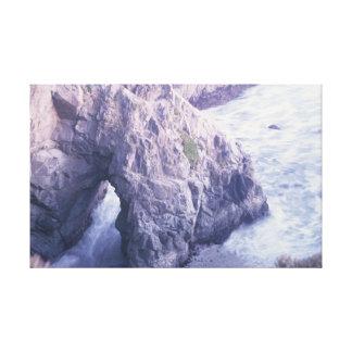 Toile Baie de Bodega, roche d'océan de la Californie
