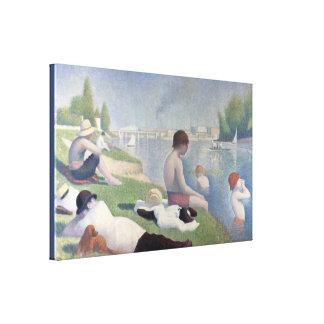 Toile Baigneurs dans Asnieres par Georges Seurat