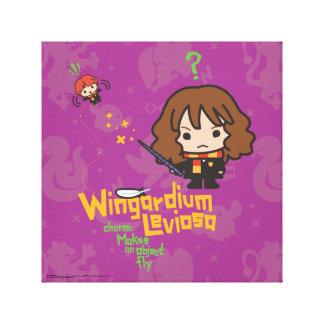 Toile Bande dessinée Hermione et charme de Ron