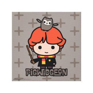 Toile Bande dessinée Ron Weasley et Pigwidgeon