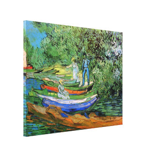 Toile Banque de l'Oise chez Auvers par Vincent van Gogh