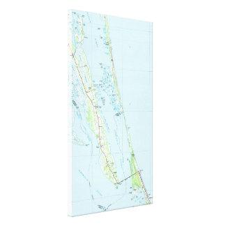 Toile Banques externes du nord la Caroline du Nord Map