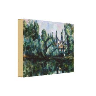Toile Banques vintages de la Marne par Paul Cezanne