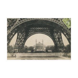 Toile Base noire et blanche de Tour Eiffel