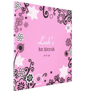 Toile Bat mitzvah floral d'étoile de David Signe-Dans le