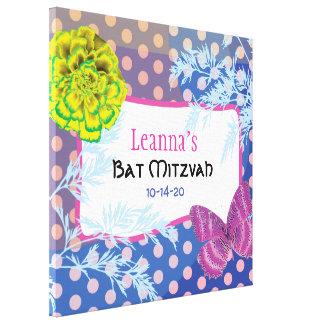 Toile Bat mitzvah FOU de COLLAGE Signe-Dans la carte
