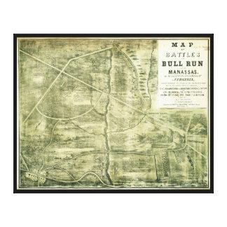 Toile Bataille de carte de course de Taureau par l'ouest