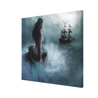 Toile Bateau de sirène et de pirate