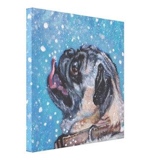 Toile Beau carlin dans la peinture de chien de