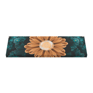 Toile Beau chrysanthème de paradis d'orange et d'Aqua