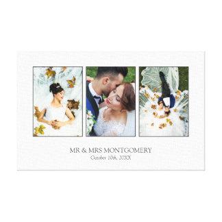 Toile Beau collage de photo de mariage