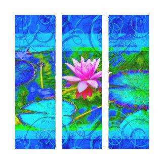 Toile Beau nénuphar rose Lotus dans l'étang