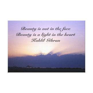 Toile Beauté par Kahlil Gibran