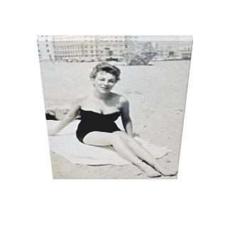 Toile Beauté vintage de plage