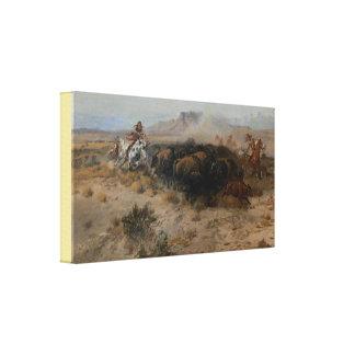 Toile Beaux-arts la chasse Charles Marion Russell de