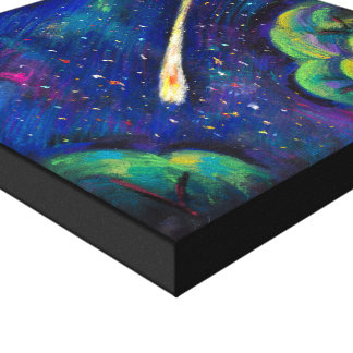 Toile Beaux-arts originaux de peinture de comète