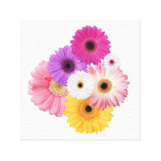Toile Bel art lumineux de mur de fleurs