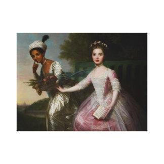 Toile Belle et Madame Murray d'Elizabeth de Dido