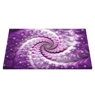 Toile Belle fleur de spirale de fractale de lavande de