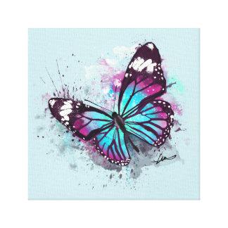 Toile Belle illustration de papillon