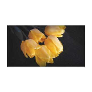 Toile Belles tulipes jaunes