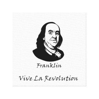 Toile Benjamin Franklin - révolution de La de Vive