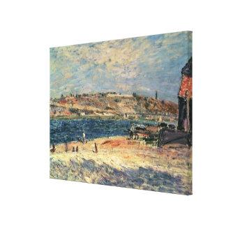 Toile Berges d'Alfred Sisley | au Saint-Mammes