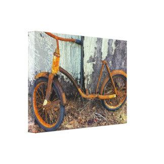 Toile Bicyclette rouillée