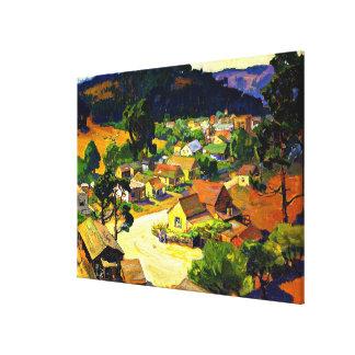 Toile Bischoff - Cambria, un village paisible de la