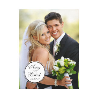 Toile blanche noire de souvenir de photo de mariag toiles