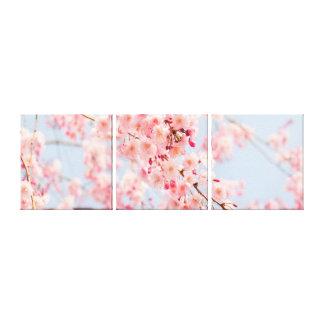 Toile bleue d'enveloppe de galerie de rose de