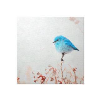 Toile bleue d'oiseau