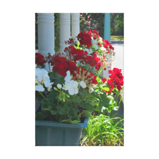 Toile Boîte de fleur de géranium - cottage de Martha's