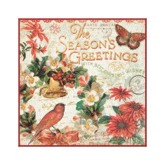 Toile Bonnes Fêtes vintages de Noël