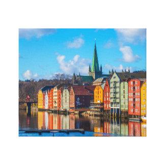 Toile Bord de mer de Trondheim, Norvège