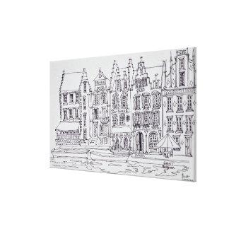 Toile Bord de mer flamand d'architecture, Gand, Belgique