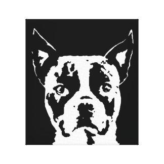 Toile Boston Terrier noir et blanc a enveloppé la copie