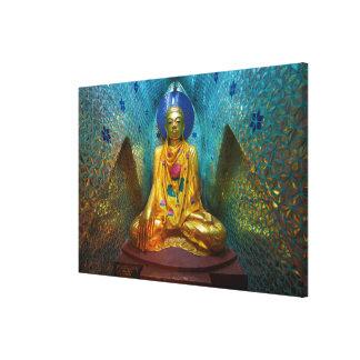 Toile Bouddha dans l'alcôve fleurie
