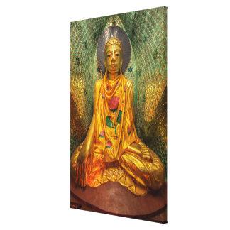 Toile Bouddha d'or dans le temple
