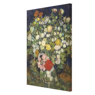 Toile Bouquet des fleurs dans un vase