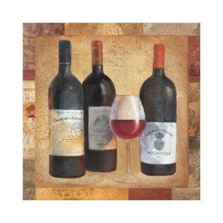 Toile Bouteilles de vin avec le verre