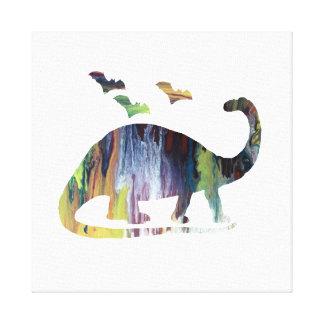 Toile Brontosaure et battes