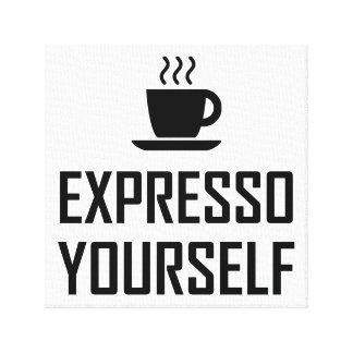 Toile Buveur de café de café express de l'express