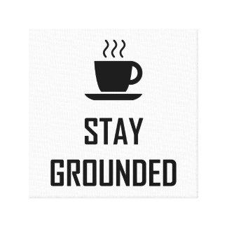Toile Buveur de café fondé par séjour