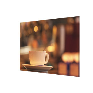 Toile Café de cappuccino, Venise, Italie
