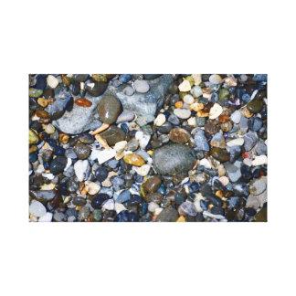 Toile Cailloux sur une plage